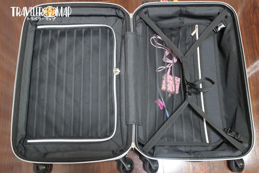スーツケースの収納・仕切り