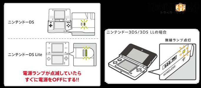 3DSが機内モードになっているか確認する