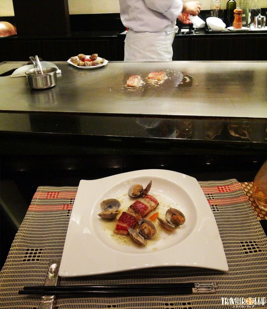 3品目貝と魚のバター焼き