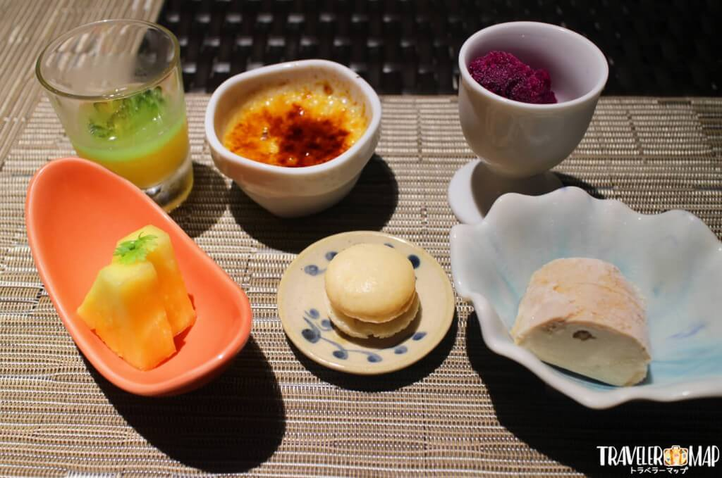 デザート6種、紅茶or珈琲