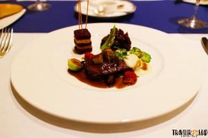 1つ目「鹿肉を二種の調理法でグランヴヌール風」2