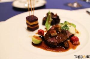 1つ目「鹿肉を二種の調理法でグランヴヌール風」1