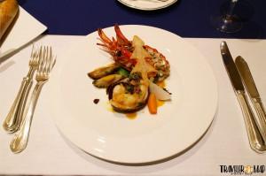 オマール海老と鮑(あわび)の軽いブレゼ 紫蘇の香り2