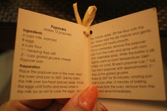 Popoverのレシピ
