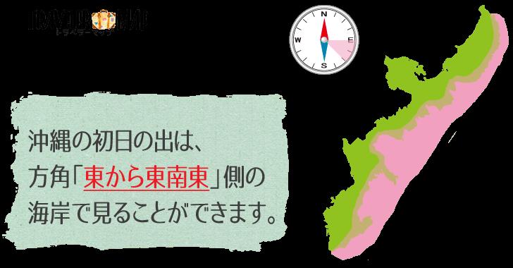 沖縄の初日の出の方角