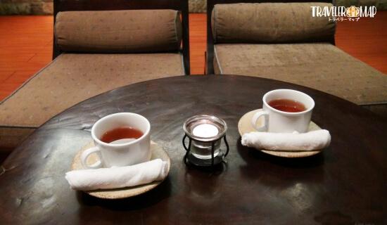 マンダラスパのお茶