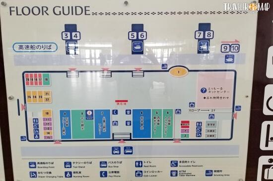 石垣港ターミナル内マップ