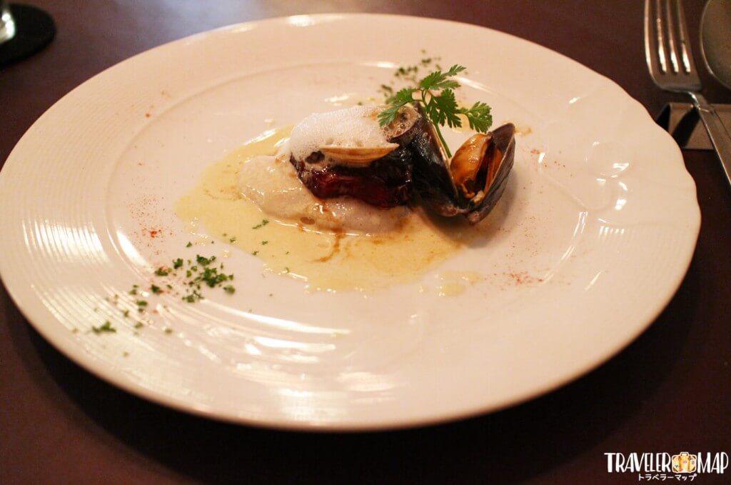 舌平目のヴァポーレ(蒸し料理) 白ワインソース