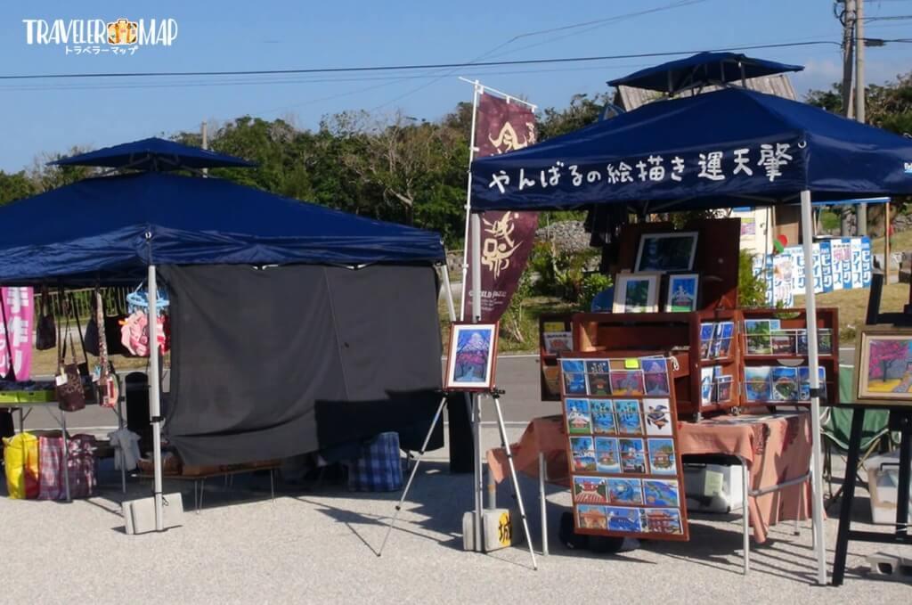今帰仁城桜祭りの露店