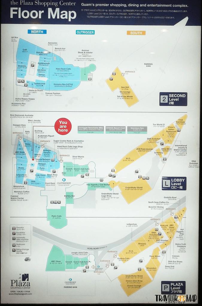 アウトリガーのマップ