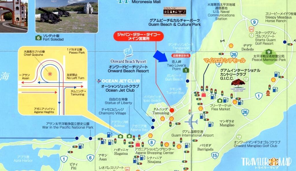恋人岬 地図