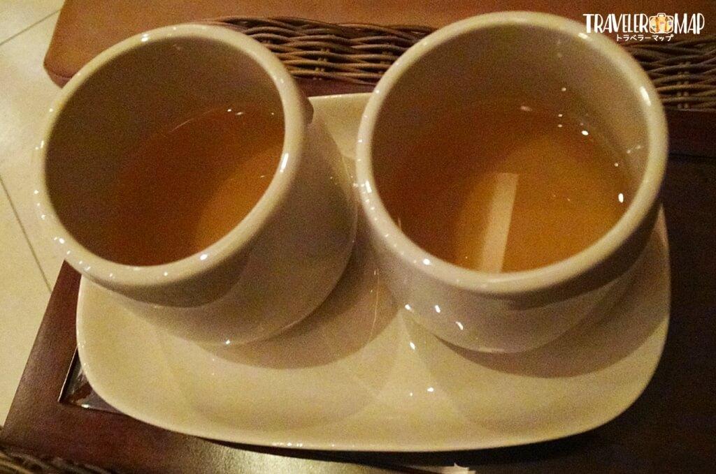 アンサナ・スパで提供されたお茶