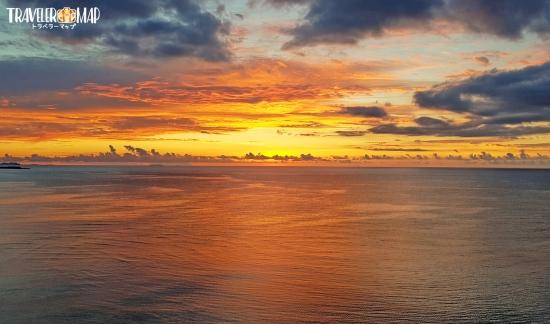 パルコシティから見た夕日