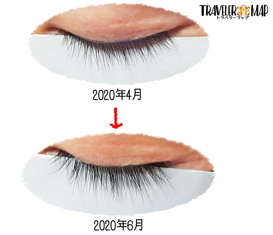 使用前・使用後の比較